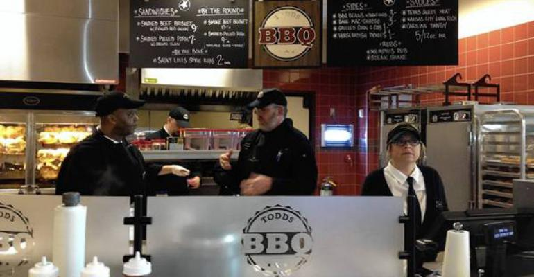 Todds BBQ operates in Mariano39s Fresh Market in Frankfort IL