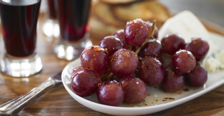 Spicy Roasted Grapes