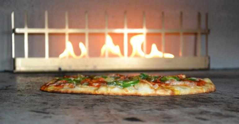 Live Basil Pizza39s oven features a quotchar boxquot of blended and soaked woods to impart flavor