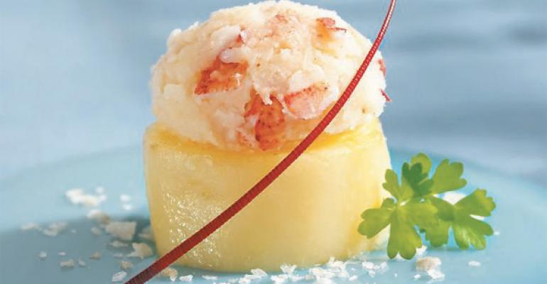 Confit of Potato with Lobster Mash