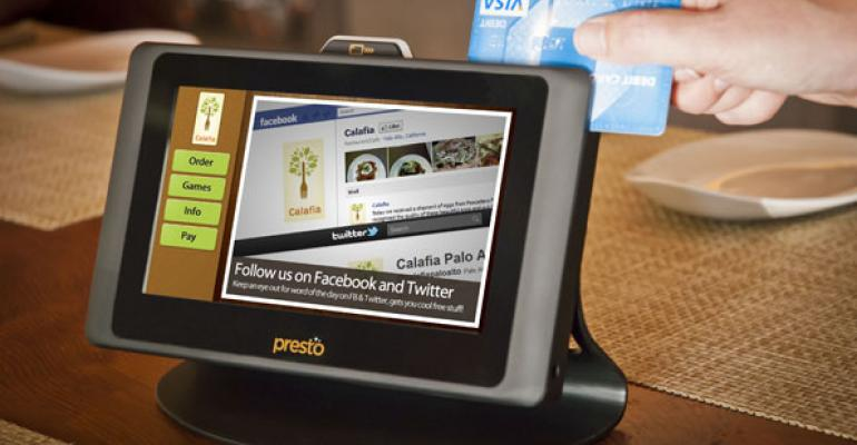 Presto is designed specifically for restaurant use