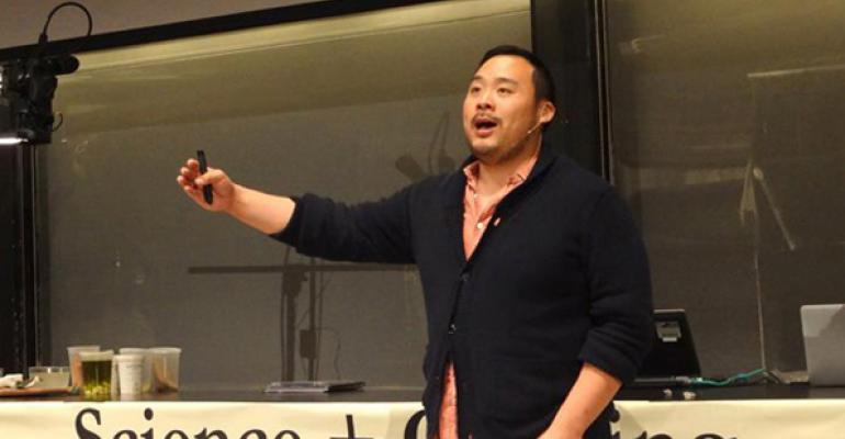 Chef David Chang teaches cooking and the science behind it at Harvard