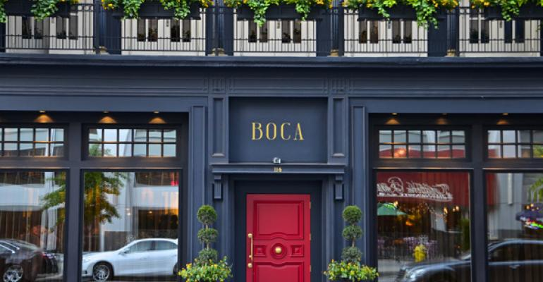 The familiar Maisonette location has been revived with a new identity Boca Sotto is on the lower level