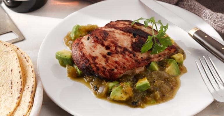Grilled Chicken with Tomatillo-Avocado Sauce