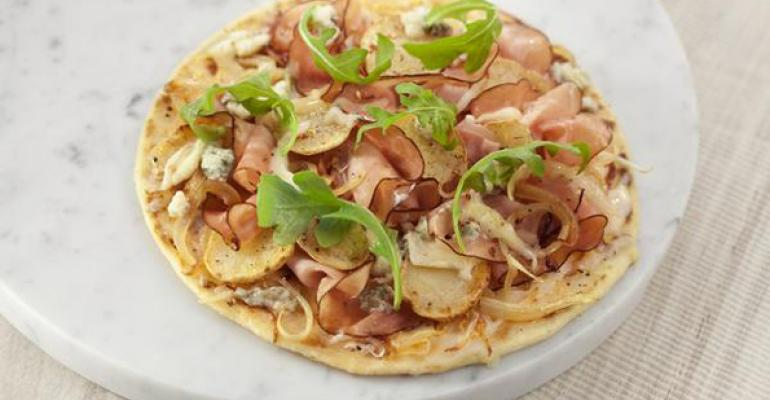 Ham and Arugula Flatbread