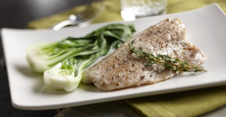 Olive Oil Poached Striped Bass