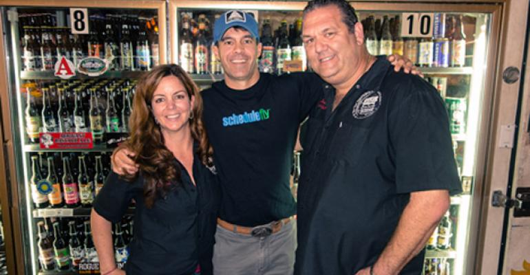 Lisa Siegel Wil Brawley and Julian Siegel at Riverside Market and Cafeacute in Ft Lauderdale FL