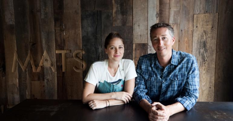 Williamson and Roberts met cute in a restaurant kitchen