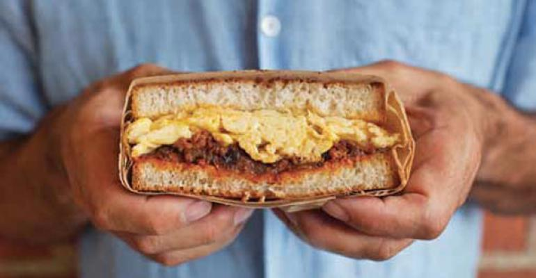 Scrambled Egg amp Chorizo Sandwich last yearrsquos winner in the breakfast category from The Sycamore Kitchen in Los Angeles