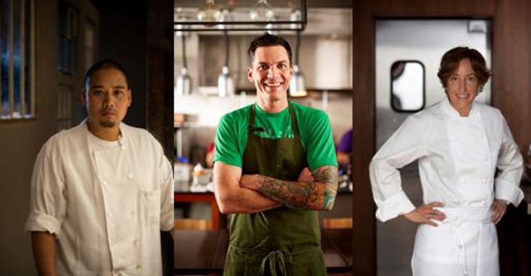 From left Chris Kobayashi Matt McCallister and Suzanne Tracht are inviting pinch hitters into their kitchens