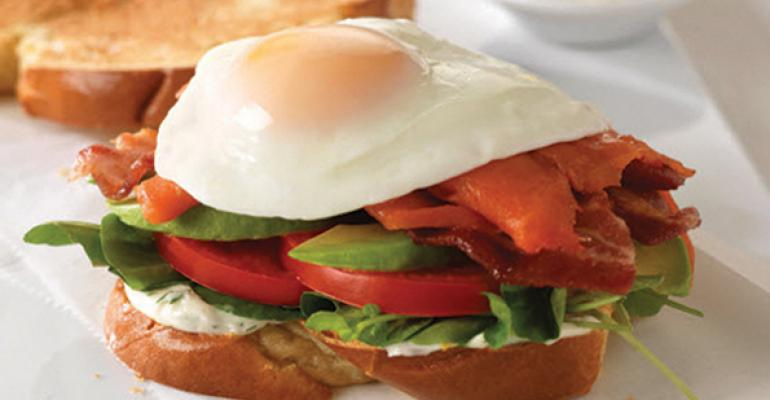 Salmon and Egg BLT