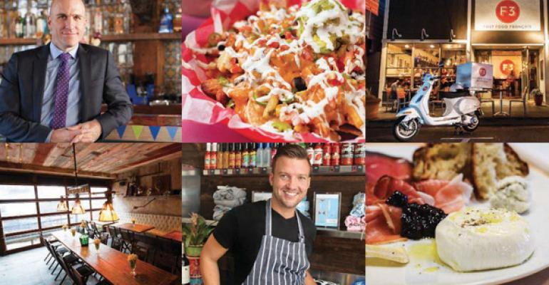Clockwise from top left Brian Sirhal pictured and partner Tim Spinnerrsquos Taqueria Feliz appeals to Phillyrsquos younger set nachos and other bar eats reign at Rosa Mexicanorsquos Cantina Bar F3 in Sausalito serves fast fare with French flair salumi from Bonanno Brothers Pizzeria Denver chef Todd Erickson caters to locals at Huahuarsquos Taqueria Miami Beach communal tables and a rustic Austrian menu at NYCrsquos Edi amp the Wolf