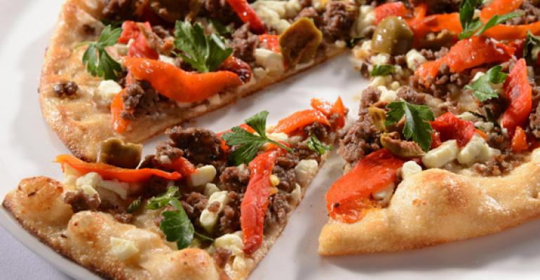 Agnello e Feta Pizza Lamb and Feta