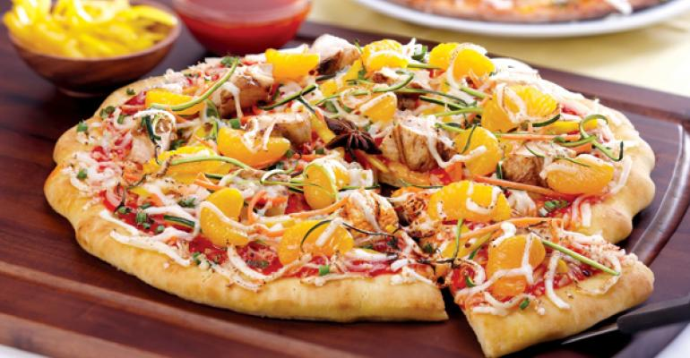 Mandarin Orange and Star Anise Chicken Pizza