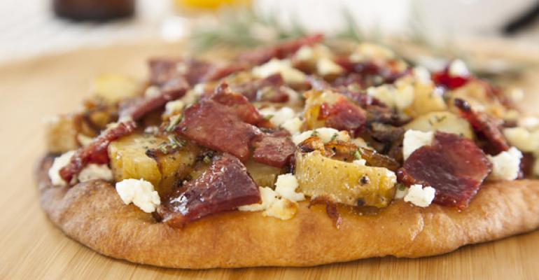 Duck Bacon Flatbread