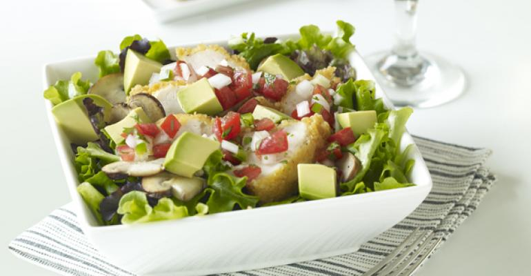 Bru's Wiffle Crispy Chicken Salad with California Avocado