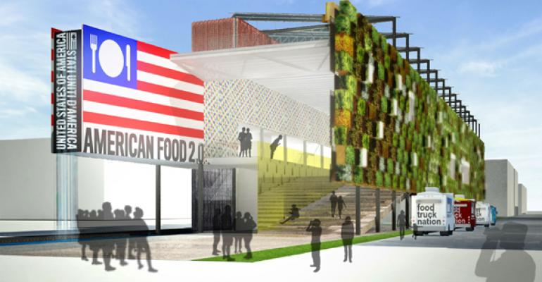 A rendering of the US Pavilion Food 20 at Expo Milano 2015