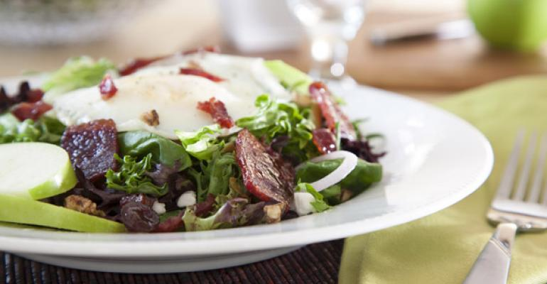 Duck Bacon and Spinach Salad