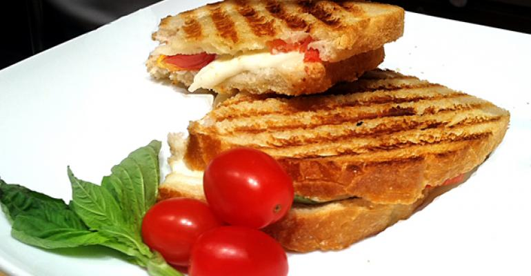 Fresh Mozzarella Grilled Cheese