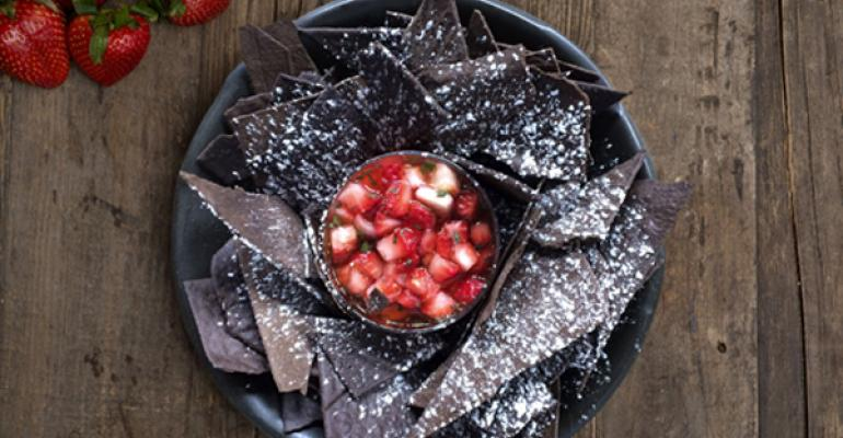 Michael Voltaggio39s Oreo Tortilla Chips with Strawberry Salsa