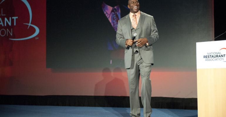 Earvin quotMagicquot Johnson took the stage at the NRA Show