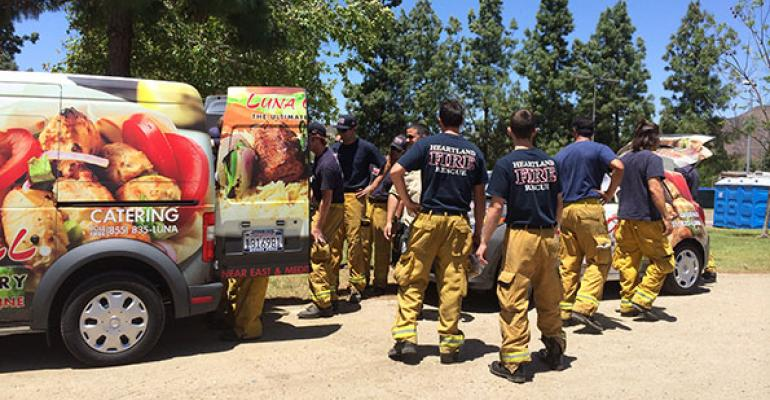 ldquoAfter seeing the fires werenrsquot dying down it became a more highly organized effort with the cooperation of the fire departmentrdquo Maria Pourteymour of Luna Grill says