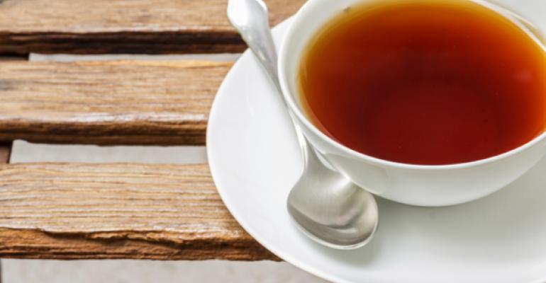 Tea's hot, restaurant sales less so