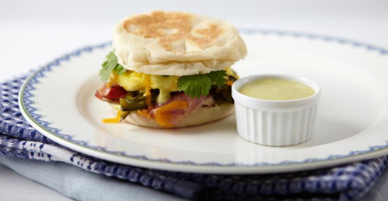 Serrano Ham con Poblano Breakfast Sandwich