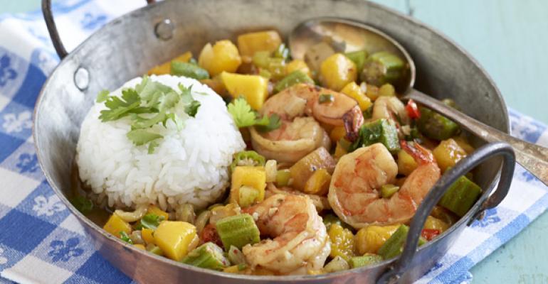 Shrimp and Mango Gumbo