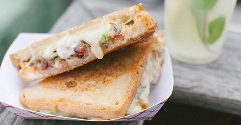 Roxy39s Green Muenster features muenster guacamole and bacon