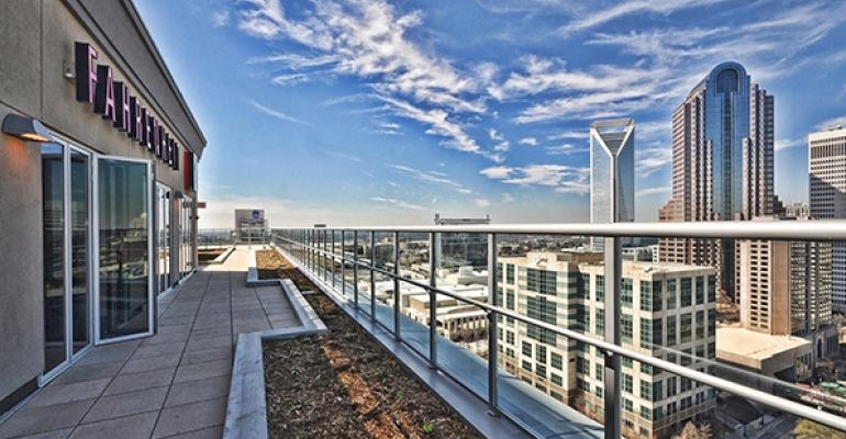 Rocco Whalenrsquos original Fahrenheit restaurant in Cleveland has its feet firmly planted in the ground His new outpost in Charlotte however soars with a terrific view from the 21st floor of a downtown building complex