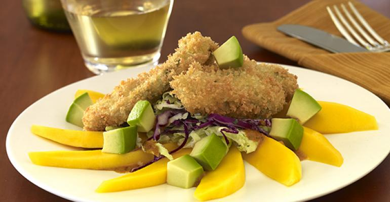 Crispy Fried Oyster Appetizer with Avocados