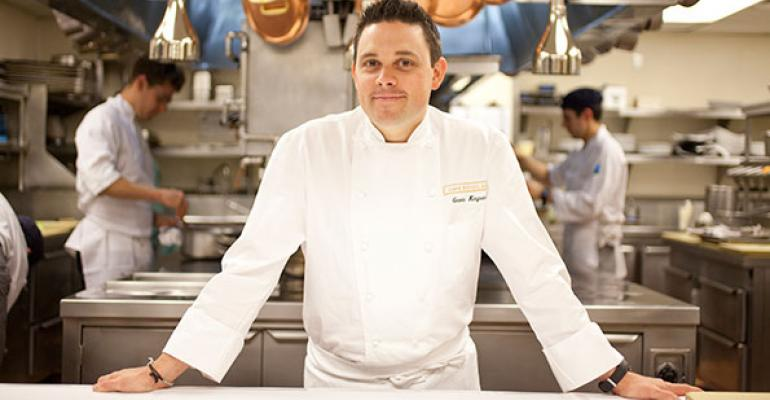Gavin Kaysen in his old stamping grounds the kitchen at Cafeacute Boulud quotI used to say it has Danielrsquos ghost inside of it because I always felt somebody or something was watching over usquot he says
