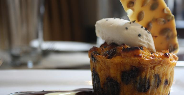 Chocolate Pumpkin Bread Pudding
