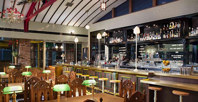 The bar at Rare Form