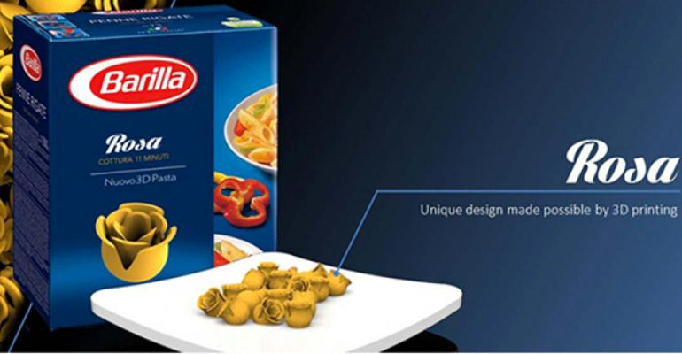 Barilla is working with a research organization to develop a 3D pasta printing machine