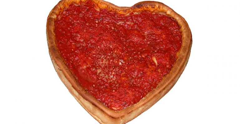 Giordanorsquos Famous Stuffed Pizza offers heartshaped pies