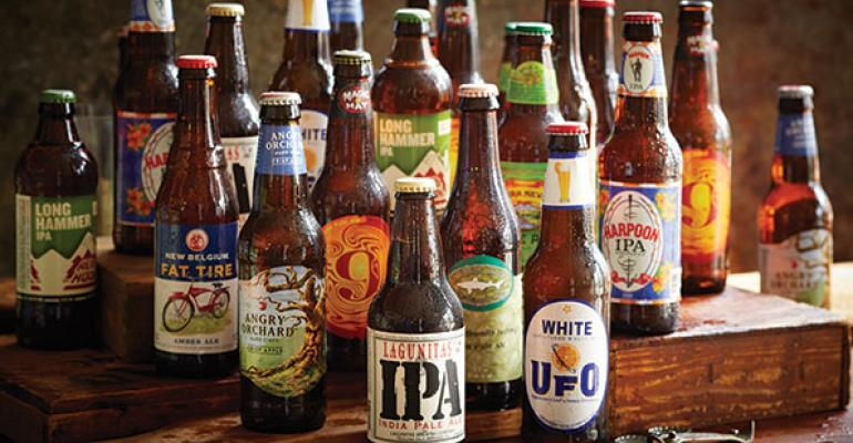 Smokey Bones brings in local craft beers so each location has a different beer menu