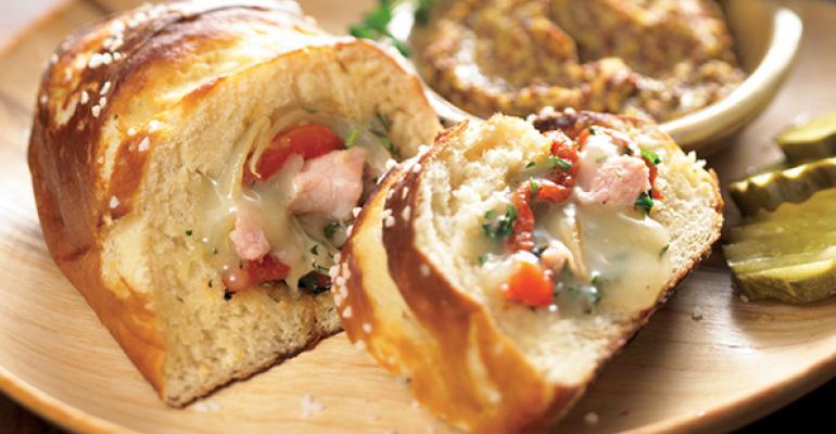 Fontina-Stuffed Pretzel Bread
