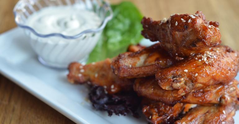 Korean-Style Kimchi Chicken Wings