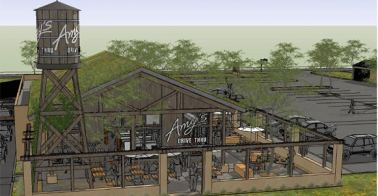 A rendering of Amy39s Drive Thru