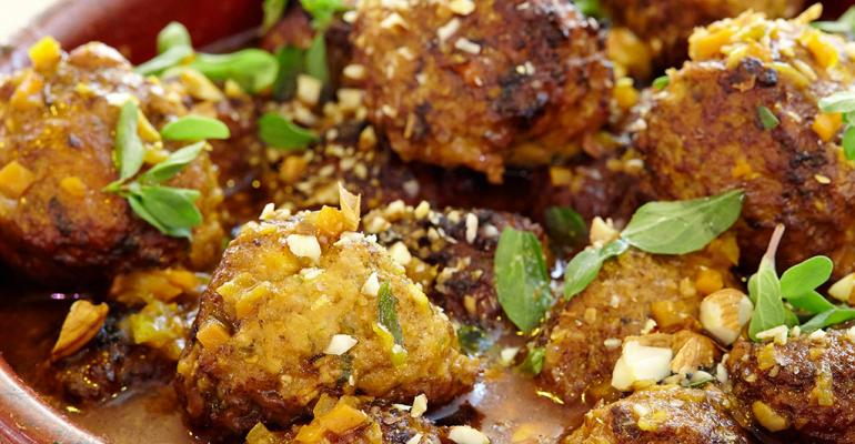 Chicken and Almond Albondigas
