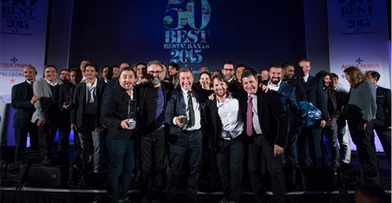 Winners at this year39s World39s Best Restaurants ceremony celebrate their achievement