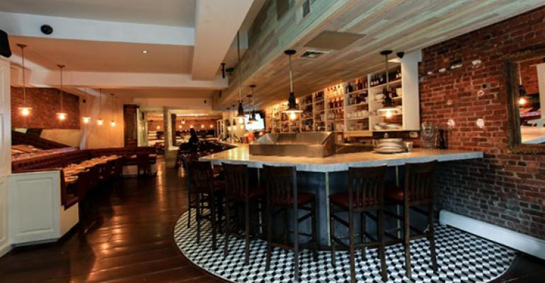 La Pulperia39s bar features reclaimed wood from Brazil
