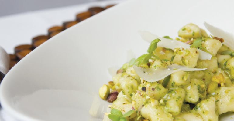 Potato Gnocchi with Pistachio & Basil Pesto