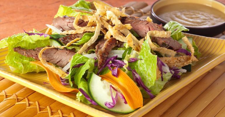Asian Pear Korean BBQ Salad