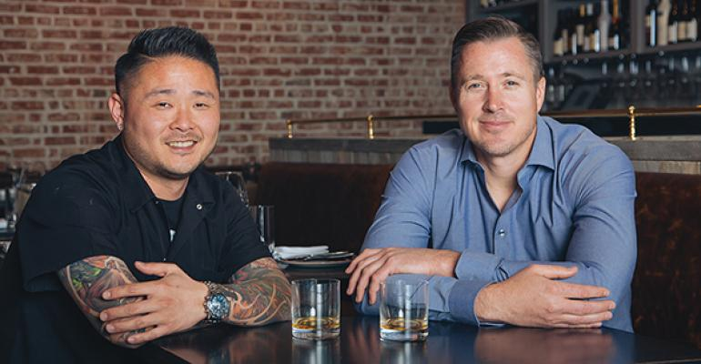 Tin Vuong left knows food and Jed Sanford knows finance