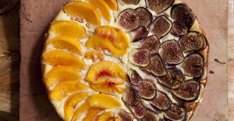 Goat Cheese, Peach and Fig Tart