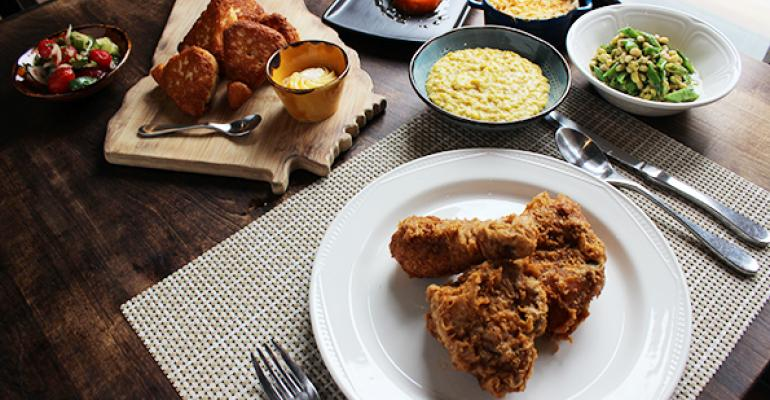 The fried chicken dinner at Revival is priced at 13 and includes relishes corn bread and more