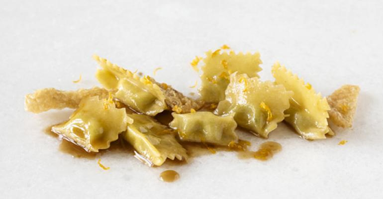 Agnolotti Stuffed with Chicken Thighs